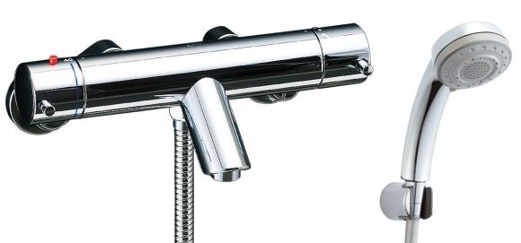 【限定品】 シャワーバス水栓:換気扇の激安ショップ エコフル多機能シャワー [寒冷地対応商品] バス水栓 サーモスタット付 eモダン シャワーバス水栓 BF-E147TNSB リクシル 寒冷地用 BFE147TNSB プロペラ君 INAX LIXIL イナックス サーモスタット付-木材・建築資材・設備