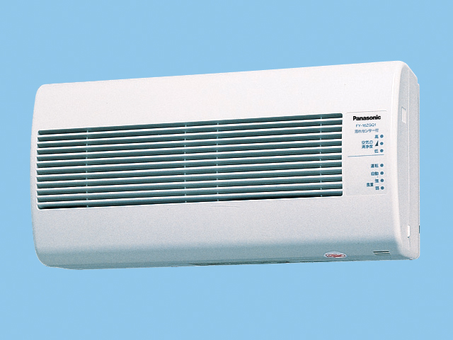 パナソニック 換気扇【FY-16ZGQ1-W】 気調換気扇(壁掛け熱交)1パイプ方式 壁掛形・1パイプ式 自動運転形(汚れセンサー) 電気式シャッター 色=ホワイト 温暖地・準寒冷地用 [新品]