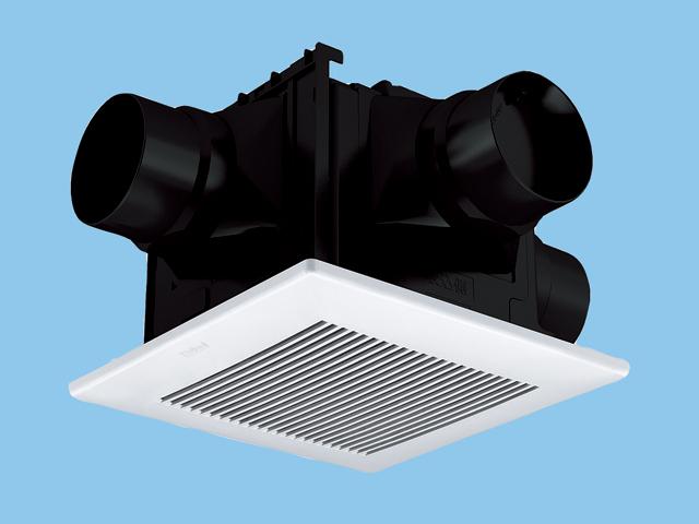 パナソニック 換気扇【FY-24CTS7V】 (樹脂)常時換気ルーバーセット 排気・急速-強-弱 低騒音・大風量形 2-3室用(吸込グリル付属) 樹脂製本体 ルーバーセットタイプ 埋込寸法:240mm角 適用パイプ径:φ100mm[新品] 天埋換気扇