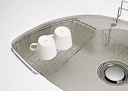 トクラス 水切り網カゴ:Lタイプ (ドルチェ・ラウンドタイプ用) HKRMK28SL [GRMK28SL] 同等品 キッチン ドルチェ・ラウンドタイプ用シンク