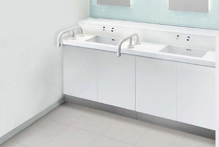 INAX イナックス LIXIL リクシル トイレ ノセルカウンターパック カウンター550mmタイプ (2連キャビネットタイプ) PTL-N2571NSCLA1C+W1850 水石けんあり手摺り付 手すり 介護用