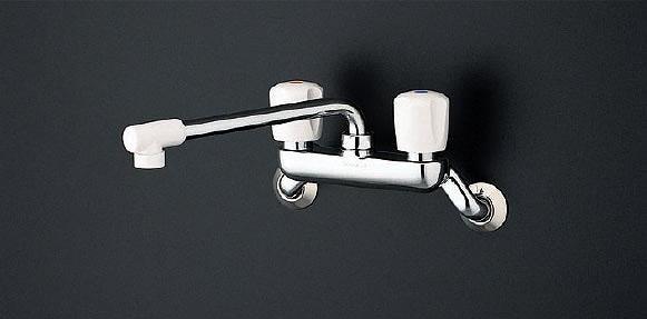 TOTO キッチン用水栓金具 TKJ20AAU (一般地・寒冷地共用) 2ハンドル混合栓/壁付きタイプ 鉛低減 [蛇口]