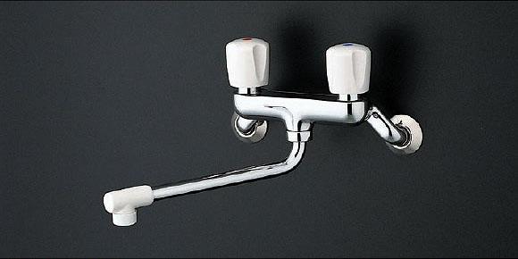 TOTO キッチン用水栓金具 TKJ20BAU (一般地・寒冷地共用) 2ハンドル混合栓/壁付きタイプ 鉛低減 [蛇口]