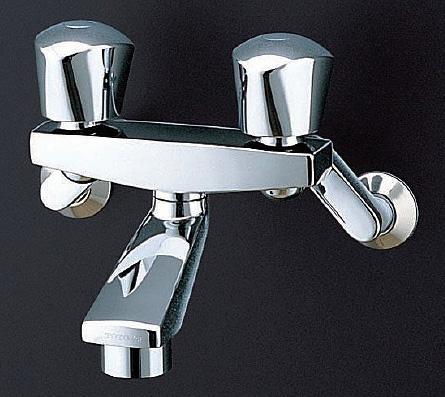TOTO 浴室用水栓金具【TMH20-1A】(一般地・寒冷地共用) 2ハンドルバス水栓 壁付きタイプ [固定/メタル]