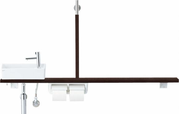 INAX LIXIL リクシル トイレ手洗 キャパシア YN-AKLECXKXHHC YNAKLECXKXHHC カウンタープラン 左仕様 床給水 壁排水 [メーカー直送][代引不可][後払い決済不可]