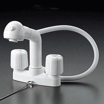KVK 2ハンドル洗髪シャワー (ゴム栓付) KF64