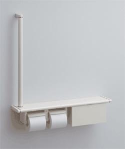 TOTO トイレ アクセサリー 天然木手すり 62シリーズ YHB62RBS・YHB62LBS 紙巻器一体型手すり・棚一体タイプ (収納付)