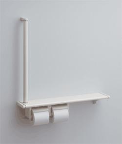 TOTO トイレ アクセサリー 天然木手すり 62シリーズ YHB62RS・YHB62LS 紙巻器一体型手すり・棚一体タイプ