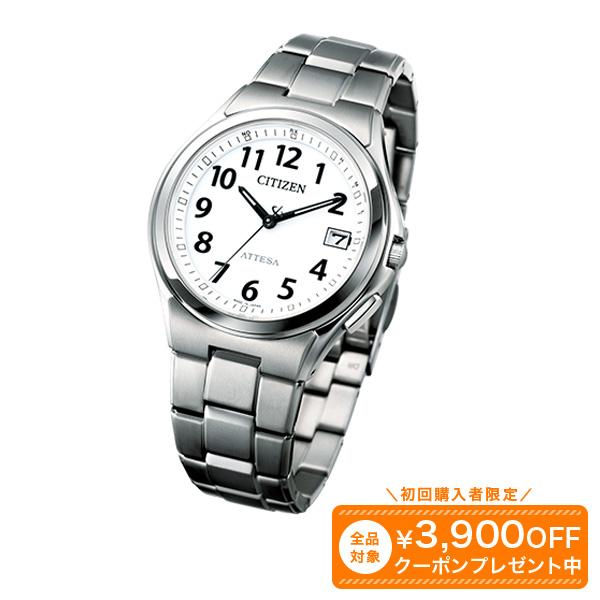 シチズン電波腕時計【送料無料】メンズ 大人 軽い シチズン アテッサ~アラビア文字スタンダードモデル電波時計 時計 腕時計 アウトドア 軽量 1年保証 チタン 国産 日本製 プレゼント