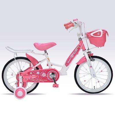 【送料無料!!】MyPallas(マイパラス) 16インチ子供用自転車 MD-12-PK (ピンク) 補助輪付花柄 ハート 女児 女の子