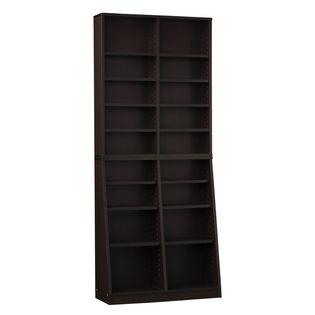 SOHO書棚 W75 ダークブラウン本棚 ラック シェルフ 幅75 文庫本 コミック CD DVD 収納 クロシオ 組立家具の日企画
