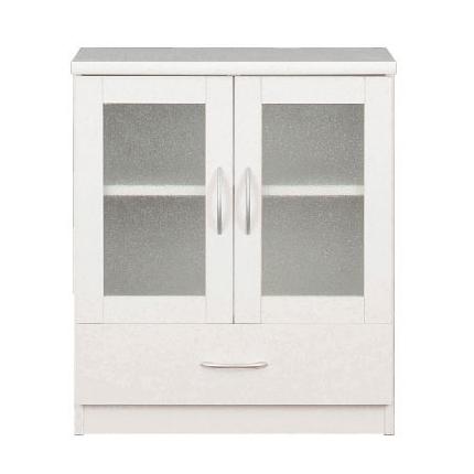 フレッシュキャビネット Neo 幅60cmクロシオ【送料無料】収納 食器棚 一人暮らし ホワイト 棚 ラック キャビネット 組立家具の日企画