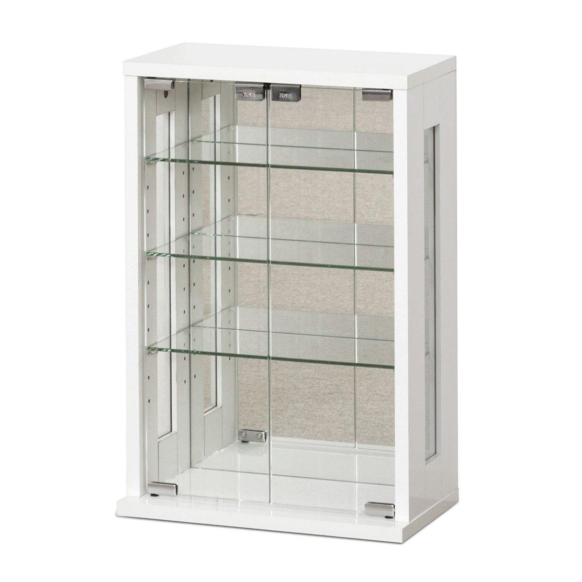 お気に入りのコレクションを美しくディスプレイ 卓上コレクションケース 高60cm タテ型 ホワイトクロシオ 27060収納 背面化粧仕上 セール品 ショーケース 大好評です コレクションケース ディスプレイケース