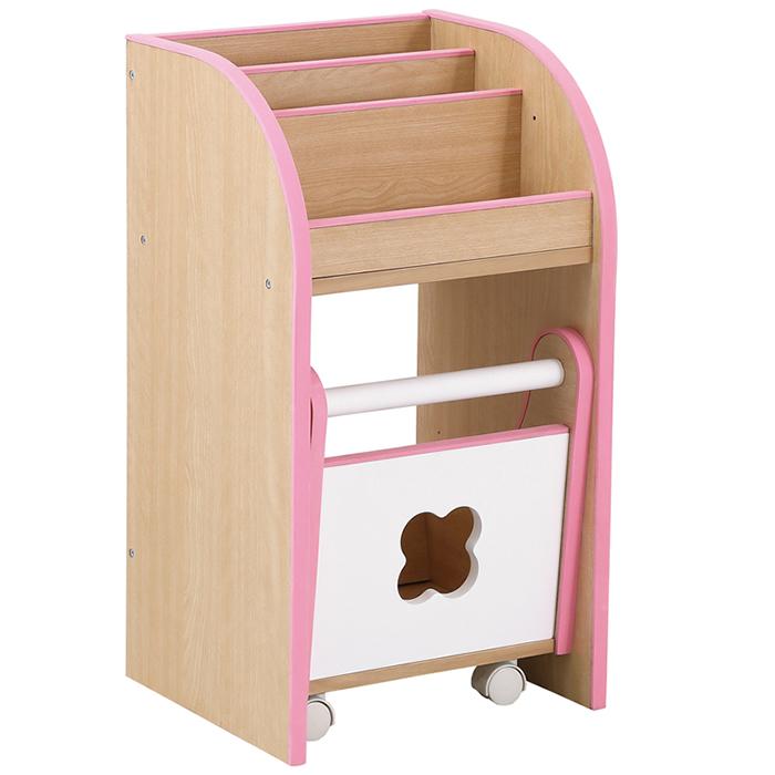 組立要 kodomonoトイボックス(ピンク)クロシオ 71853【送料無料】引き出し 子ども用チェスト 子ども部屋 おもちゃ 絵本