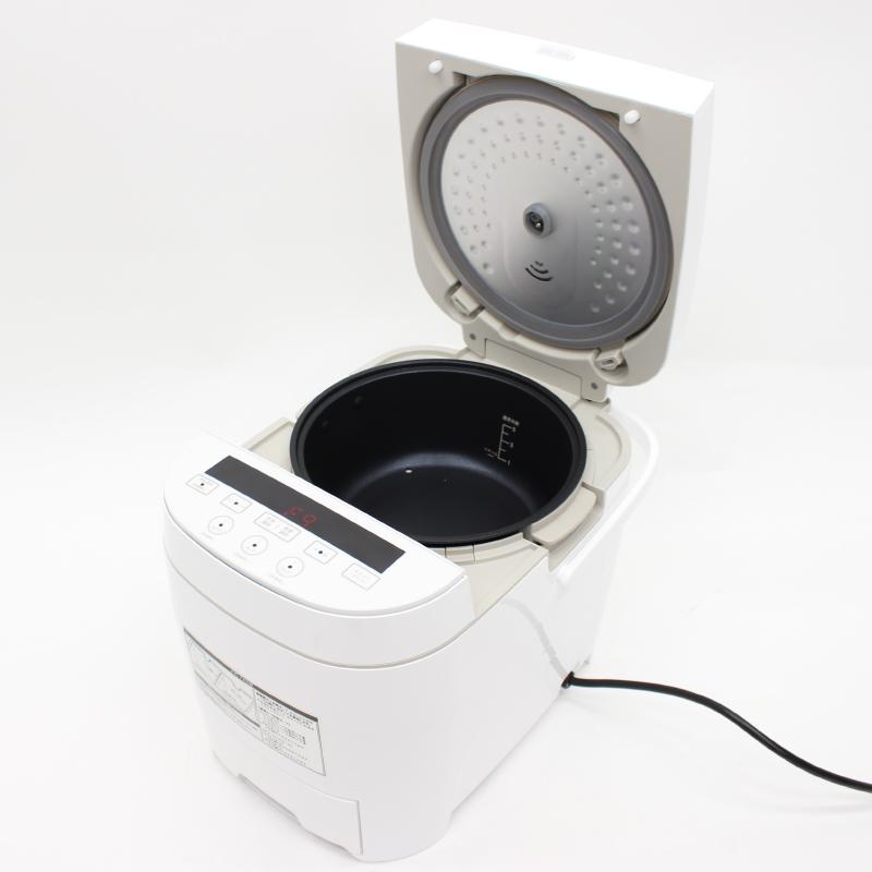 ヒロテック 糖質カット炊飯器 3合炊HTC-001(ホワイト)糖質制限 ダイエット 蒸し料理 早炊き 健康 話題 糖質約33%オフ