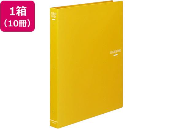 コクヨ/クリヤーブック 差替式 A4タテ 30穴 背幅34mm 黄 10冊