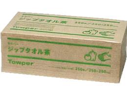 送料無料 新品■送料無料■ スーパーセール期間中ポイント3倍 日本製紙クレシア 茶 ジップタオル 予約販売 250枚×15束