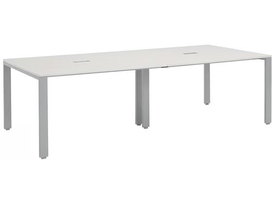 エランサ ジョイントミーティングテーブル W2400×D1200 ホワイト
