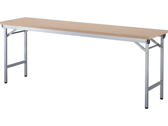 アイリスチトセ/折りたたみテーブル 棚なし/W1800×D450/ナチュラル