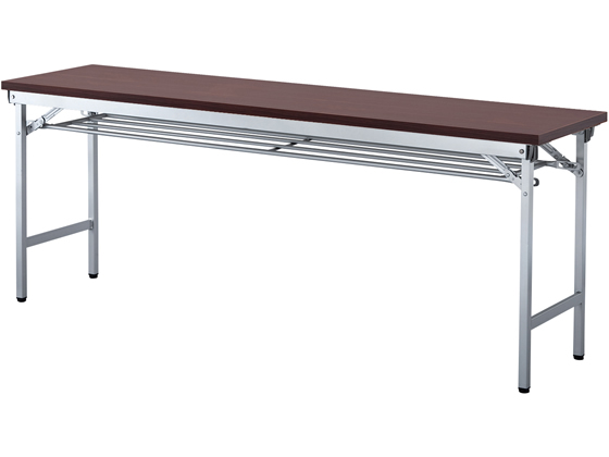 アイリスチトセ/折りたたみテーブル 棚付き/W1800×D450/ローズ【ココデカウ】
