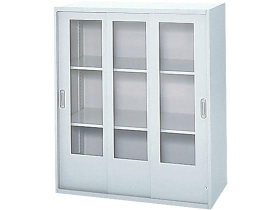 プラス/LX-5上置き 透明ガラス3枚引戸 D450 ホワイト