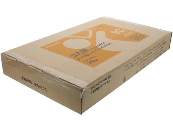 税込3000円以上で送料無料 スーパーセール期間中ポイント10倍 Forestway ゴミ袋 ティッシュBOXタイプ 新色追加 90L 100枚 オンラインショッピング 半透明