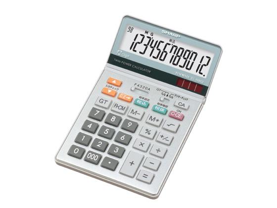 【税込3000円以上で送料無料】 シャープ/グラストップ調デザイン電卓/EL-N862-X
