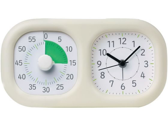 販売実績No.1 税込3000円以上で送料無料 ソニック トキ セール特価品 サポ LV-3521-I アイボリー 時っ感タイマー 時計プラス