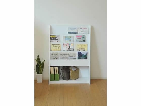 バリュテック・インターナショナル/雑誌ラック W900×D400 W900×D400 ホワイト/MAW-12, アサヒチョウ:a282b720 --- officewill.xsrv.jp