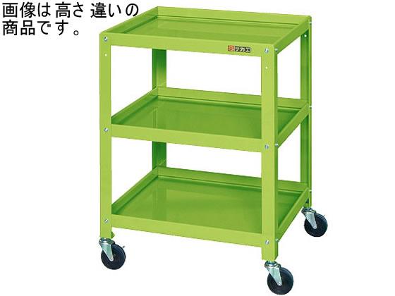 サカエ/ニューCSツールワゴンW540 3段 グリーン/CSLA-5483