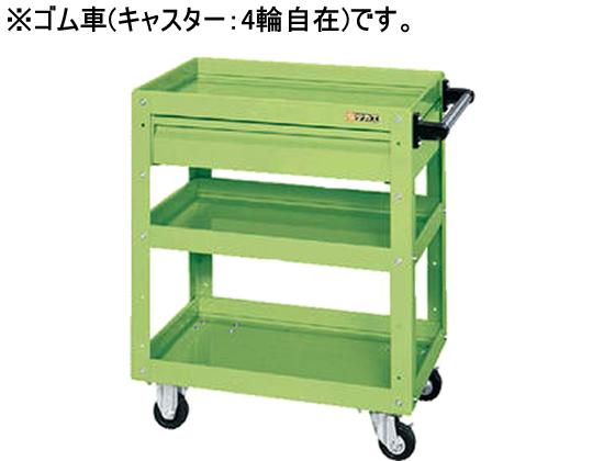 サカエ/ニューCSスーパーワゴンW600 引出付 グリーン/CSWA-607CJ