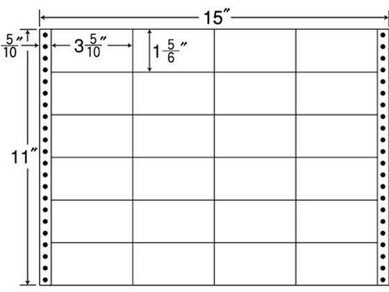 NANA/連続ラベルナナフォーム 15×11インチ 24面 500折/M15G