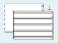 コンピュータ連続用紙 15×11罫線3枚複写 1000セット