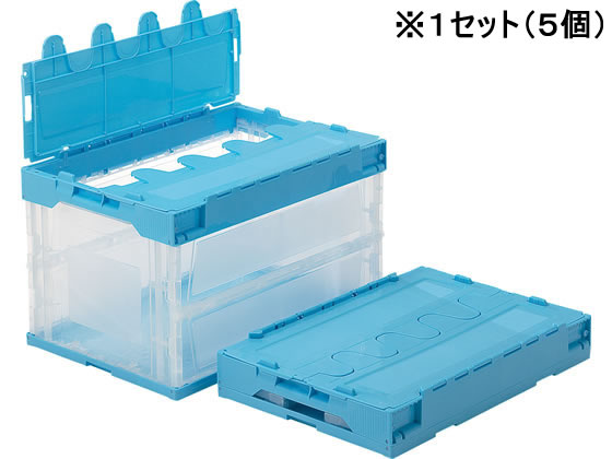 三甲/サンクレットオリコンL51B(透明ライトブルー) 5個セット/550580