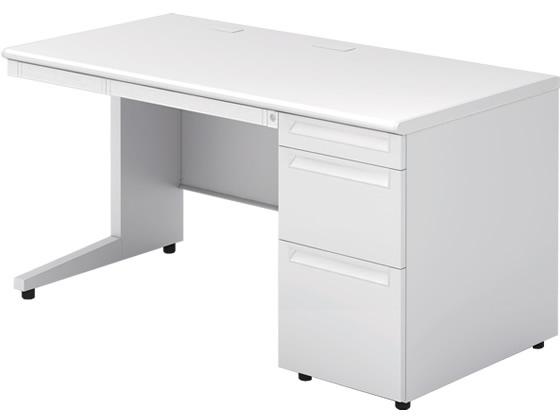 プラス/US-2 プラス/US-2 ホワイト 片袖机(D-3段袖) W1400 ホワイト, アシロチョウ:b2de677c --- officewill.xsrv.jp