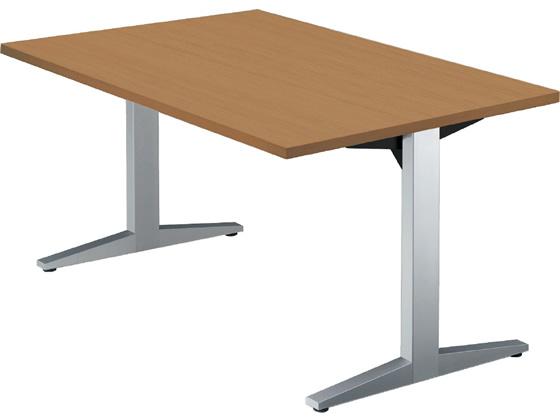 プラス/STAGEO テーブル W1400*D750 ミディアムウッド/ST-140TR