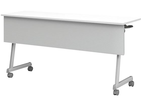 アイリスチトセ/フォールディングテーブルFT89Z脚 幕付・棚無W1500 ホワイト