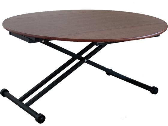 東馬/アイル 昇降テーブル ブラウン