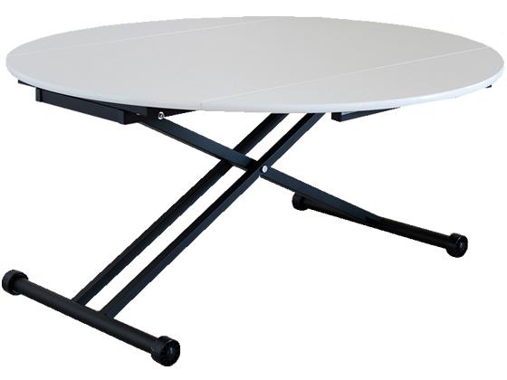 東馬/アイル 昇降テーブル ホワイト