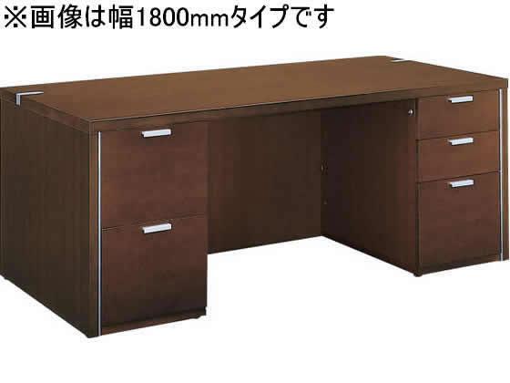コクヨ/マネージメントN650 両袖デスク W1600 ブラウン