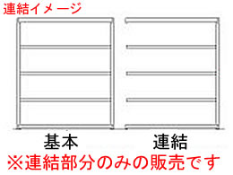 原田/スチール棚 中量3M 天地4段 連結 グリーン/3MS-6560-4R