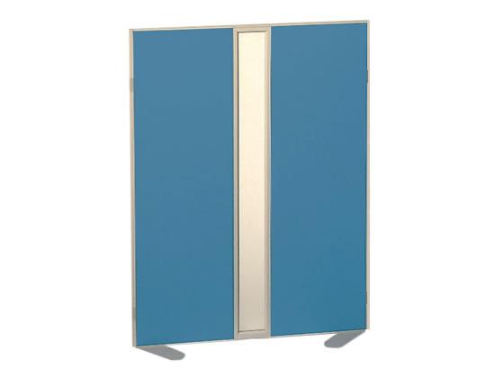 コクヨ/ホームパーティション 窓付き クロス張り W900×H1200 ブルー