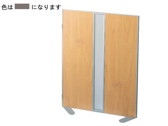 コクヨ/ホームパーティション 窓付き クロス張り W900×H1200 ブラウン