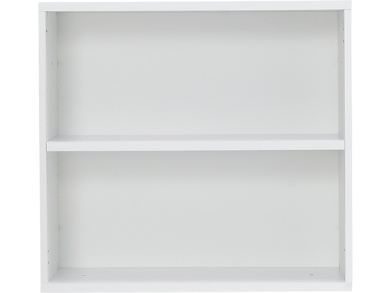 Garage/ストレージKK 上置き オープン2段 H740 白 KK-8007