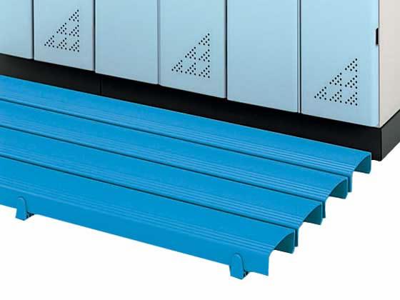 直送 バーゲンセール 代引不可 組立 設置 送料無料 納期約10日 メーカー直送 コクヨ ストレートタイプ CM-S10Bブルー ブルー W1800×D400 売買 カラースノコ