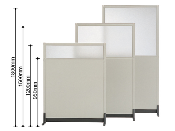 コクヨ/パーティションE 上面ガラスパネル基本 W1232×H1200