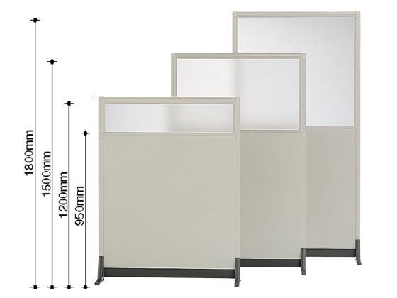 コクヨ/パーティションE 上面ガラスパネル増連 W900×H1800