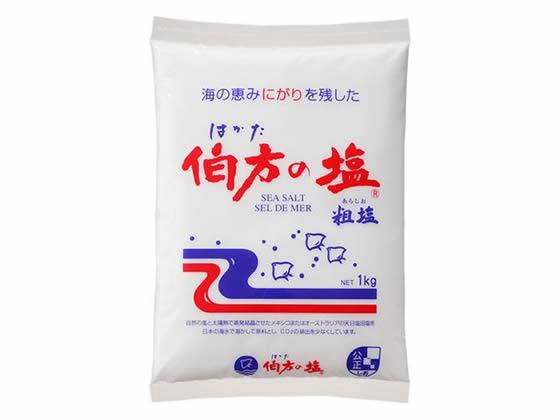 税込3000円以上で送料無料 スーパーセール期間中ポイント5倍 伯方塩業 粗塩 期間限定特別価格 買取 1kg 伯方の塩