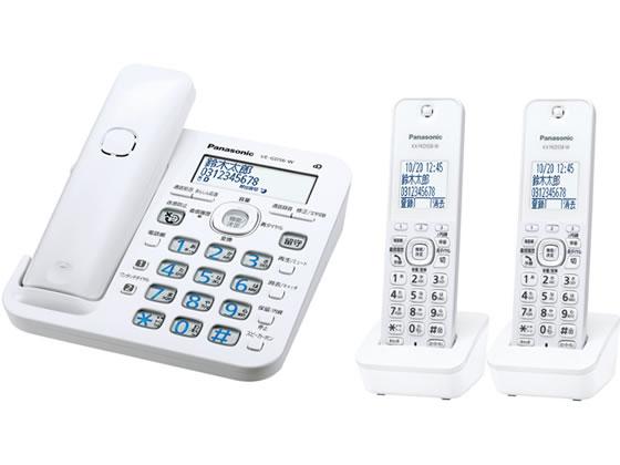 パナソニック/コードレス電話機子機2台付 ホワイト/VE-GD56DW-W