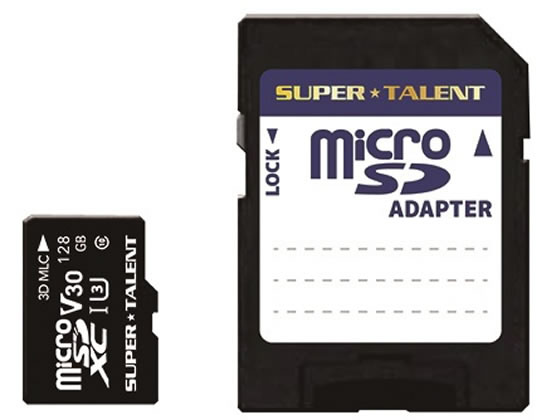 SUPERTALENT/高耐久microSDXCメモリーカード UHS-I 128GB